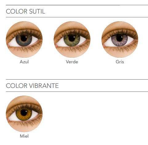 ca10a89d5fd20 Optica Paesani - Lentes de contacto Air optix Colors freshlook